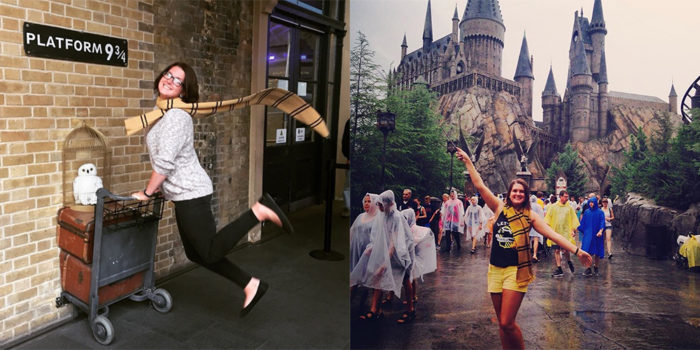 taylor myrick visiting harrypotter world